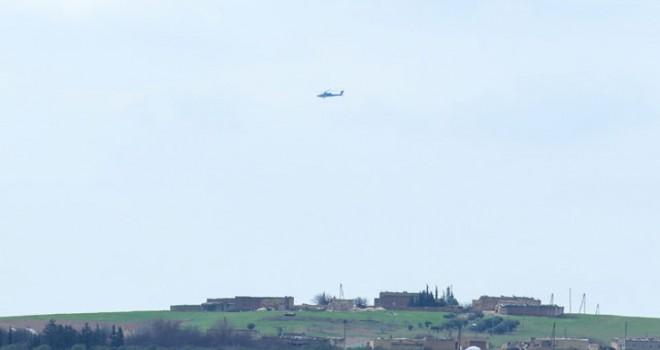 Teröristlerin 'çıkacağız' dediği Menbiç sınırında ABD helikopterleri uçuyor