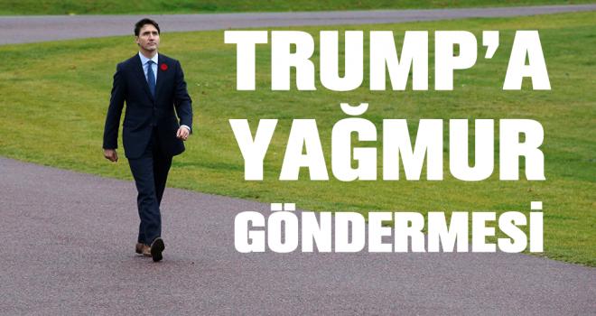 Kanada Başbakanı Trudeau'dan Trump'a 'yağmur' göndermesi