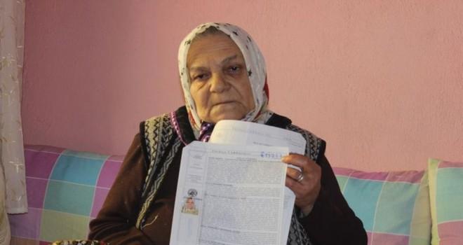 Denizli'de yaşlı kadına eski damattan 80 bin TL borç kaldı