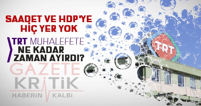 TRT, muhalefete kaç saat ayırdı