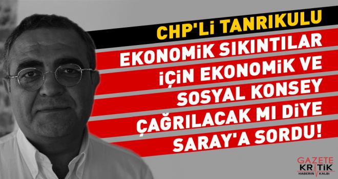 CHP'li Tanrıkulu Ekonomik Sıkıntılar İçin Ekonomik ve Sosyal Konsey Çağrlacak mı diye Saray'a Sordu!