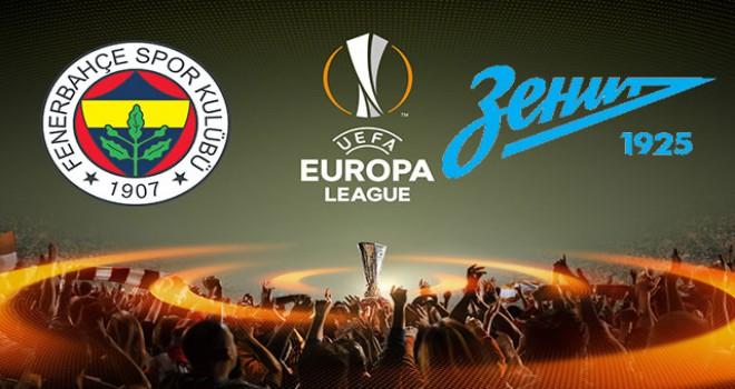 Fenerbahçe - Zenit maçının ilk 11'leri belli oldu