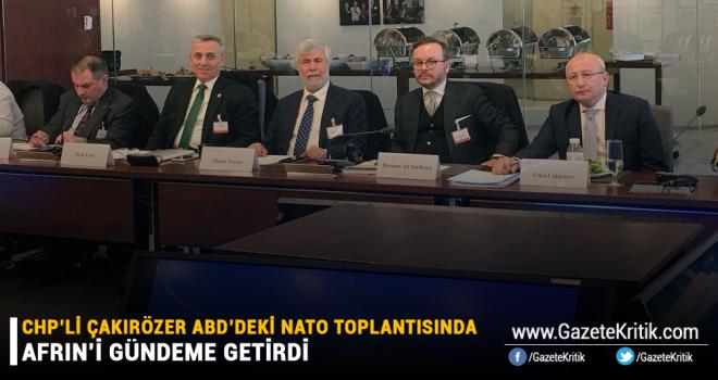 CHP'li Çakırözer ABD'deki NATO toplantısında Afrin'i gündeme getirdi