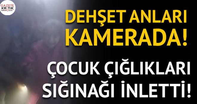 Afrin'de dehşet anları: YPG/PKK sığınaktaki sivilleri vurdu!