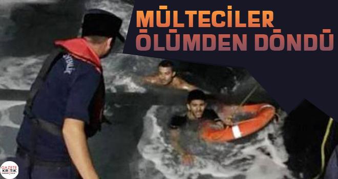 Mülteciler ölümden döndü
