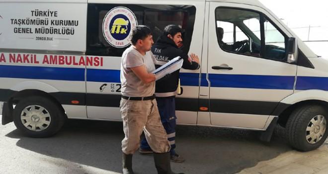 Maden ocağında kolu iş makinesine sıkışan işçi yaralandı