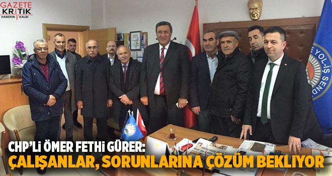 CHP Milletvekili Gürer, Niğde'de işçilerle buluştu..