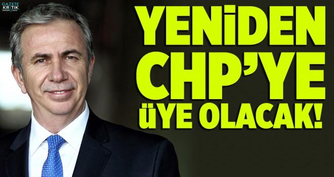 Mansur Yavaş Yeniden CHP'ye Üye Olacak