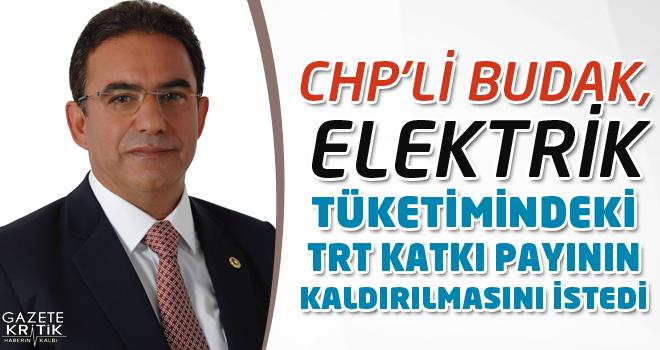 CHP'Lİ BUDAK, ELEKTRİK TÜKETİMİNDEKİ TRT KATKI PAYININ KALDIRILMASINI İSTEDİ