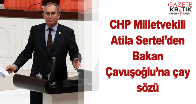 CHP Milletvekili Atila Sertel'den Bakan Çavuşoğlu'na çay sözü