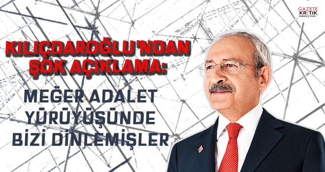 CHP Lideri Kılıçdaroğlu: Adalet Yürüyüşü'nde telefonlarımız dinlendi