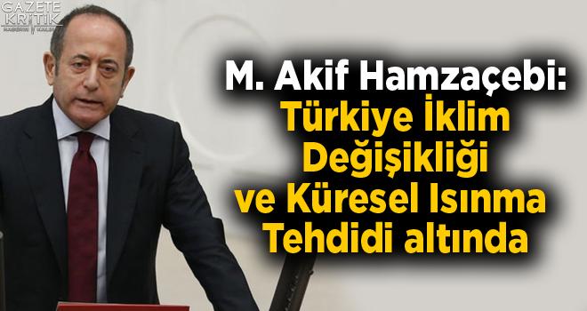 M. Akif Hamzaçebi:Türkiye İklim Değişikliği ve Küresel Isınma Tehdidi altında