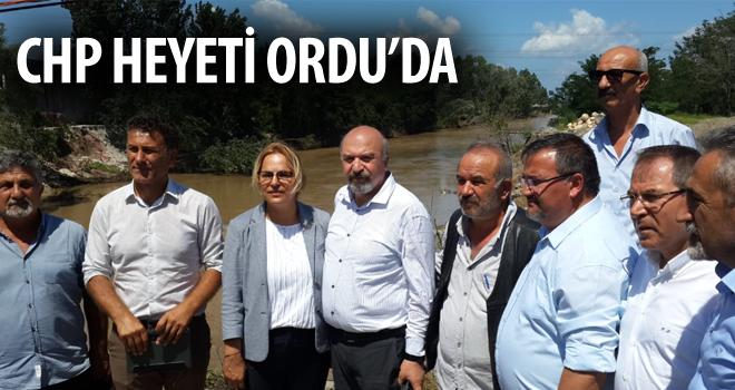 CHP Heyeti Sel Bölgesine İncelemelerde Bulundu