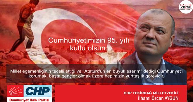 CHP'Lİ İLHAMİ ÖZCAN AYGUN:CUMHURİYET FAZİLETTİR!