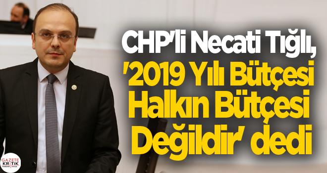 CHP'li Necati Tığlı, '2019 Yılı Bütçesi Halkın Bütçesi Değildir' dedi