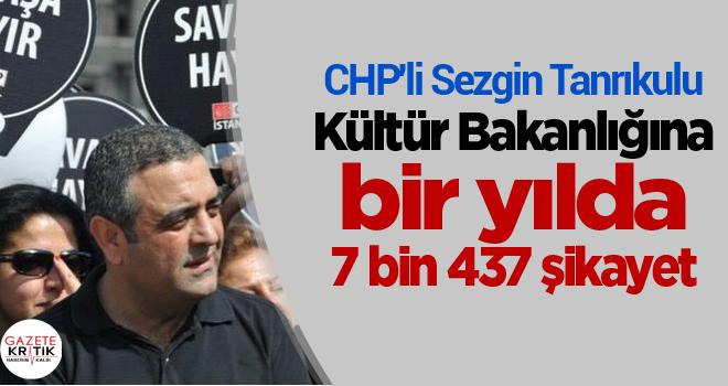 CHP'li Sezgin Tanrıkulu:Kültür Bakanlığına bir yılda 7 bin 437 şikayet