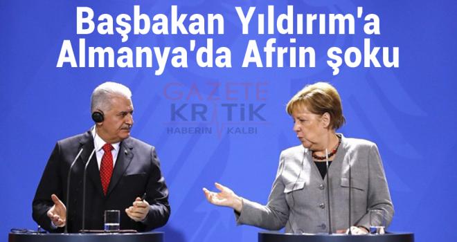 Başbakan Yıldırım'a Almanya'da Afrin şoku