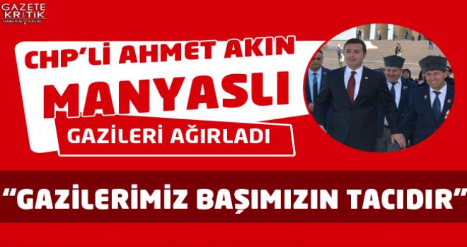 CHP'Lİ AHMET AKIN MANYASLI GAZİLERİ AĞIRLADI