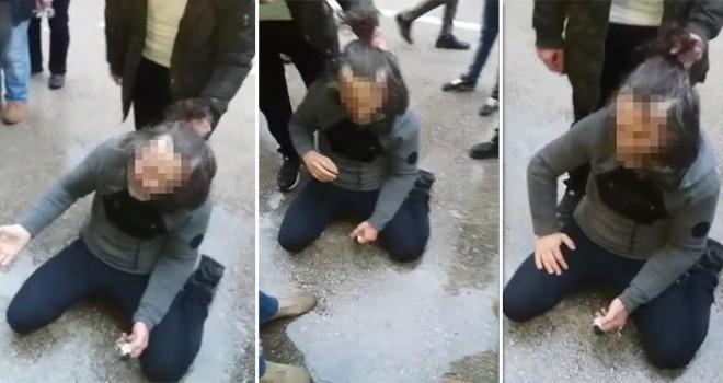 Kız çocuğuna taciz şüphelisini dövüp polise teslim ettiler