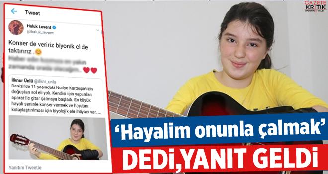 Haluk Levent'ten Nuriye'yi sevindiren tweet