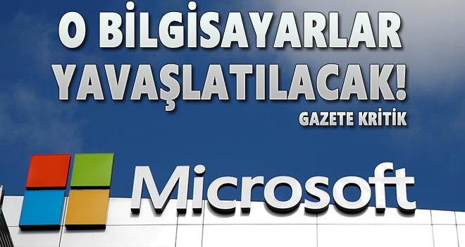 Apple'dan sonra Microsoft'tan 'yavaşlatma' açıklaması