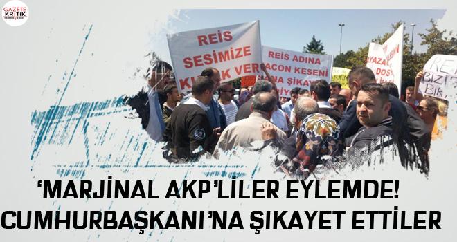 'Marjinal AKP'liler eylemde! Cumhurbaşkanı'na şikayet ettiler