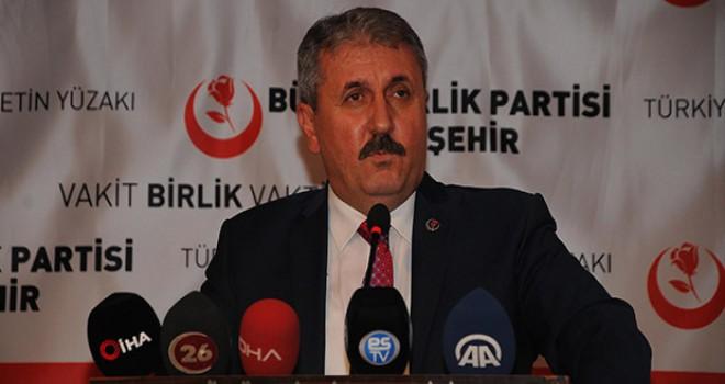 Cumhur İttifakı'nın küçük ortağı BBP'den hükümete: Burada inat etmemesi lazım