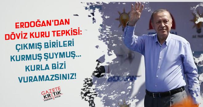 Erdoğan'dan döviz kuru tepkisi: Çıkmış birileri kurmuş şuymuş... Kurla bizi vuramazsınız!