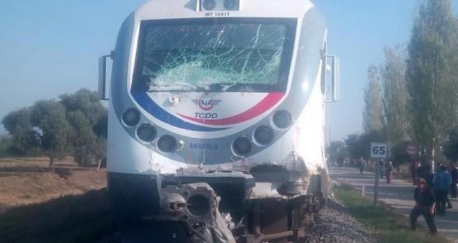 Ödemiş treni kaza yaptı: 1 yaralı