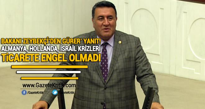 CHP Milletvekili Gürer'in soru önergesine Ekonomi Bakanı Nihat Zeybekçi yanıt verdi
