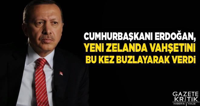 Cumhurbaşkanı Erdoğan, Yeni Zelanda vahşetini bu kez buzlayarak verdi