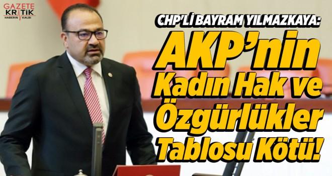 CHP'Lİ BAYRAM YILMAZKAYA: AKP'nin Kadın Hak ve Özgürlükler Tablosu Kötü!