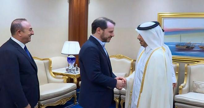 Bakanlar Çavuşoğlu ve Albayrak, Katarlı bakanlarla görüştü