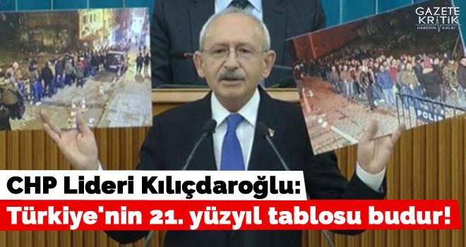Kılıçdaroğlu: Türkiye'nin 21. yüzyıl tablosu budur!