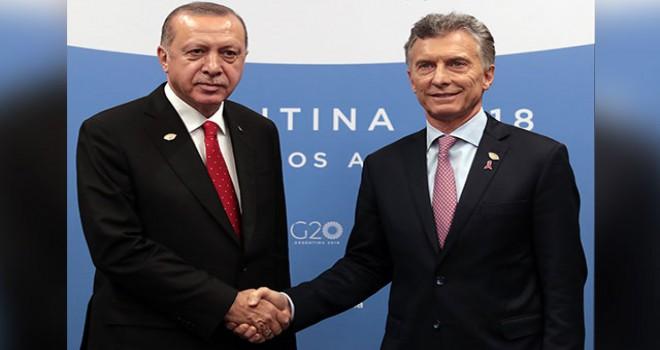 Cumhurbaşkanı Erdoğan, Arjantin Devlet Başkanı Mauricio Macri ile görüştü