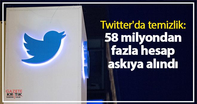 Twitter'da temizlik: 58 milyondan fazla hesap askıya alındı
