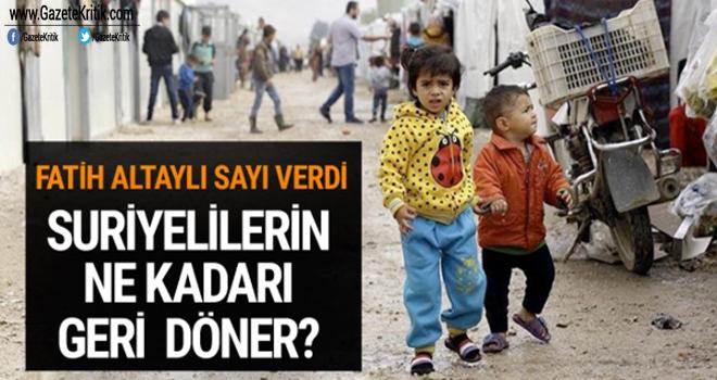 Suriyelilerin ne kadarı geri döner? Fatih Altaylı sayı verdi