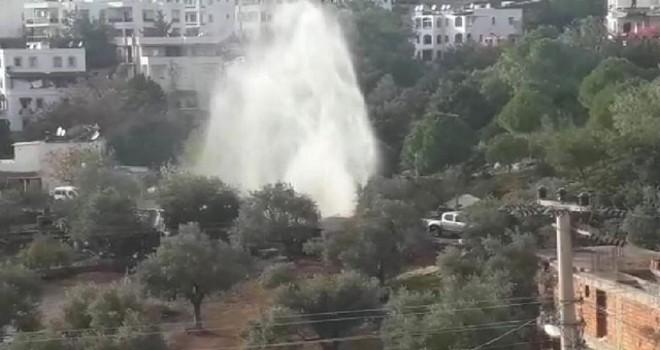 Bodrum'da yine su borusu patladı