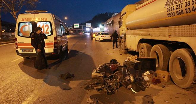 Şişli'de motosiklet kazası: 1 yaralı