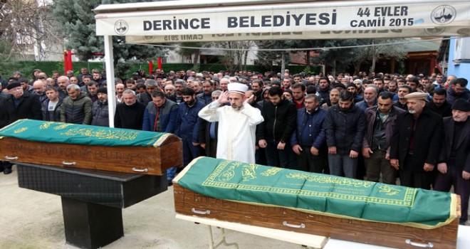 Yılbaşı gecesi öldürülen kardeşler toprağa verildi