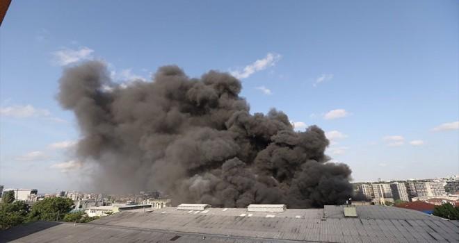 İplik fabrikasında büyük yangın
