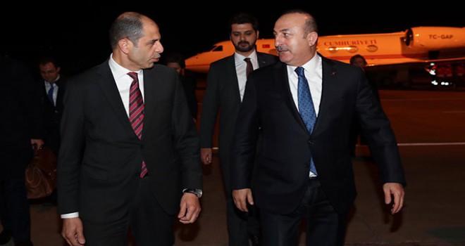 Dışişleri Bakanı Çavuşoğlu, KKTC'ye geldi