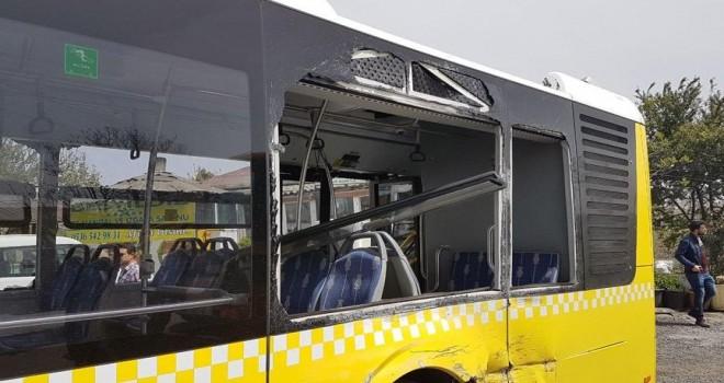Sarı damper terörü devam ediyor! Bu kez belediye otobüsüne…