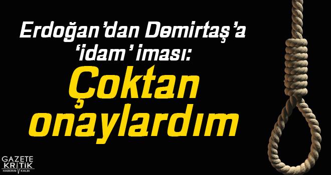 Erdoğan'dan Demirtaş'a 'idam' iması: Çoktan onaylardım