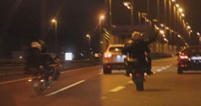 Motosikletin plakasını söktüler ve...