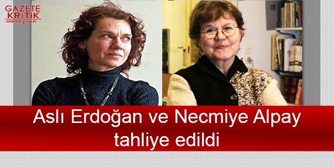 Aslı Erdoğan ve Necmiye Alpay tahliye edildi