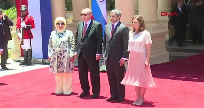 Cumhurbaşkanı Erdoğan, Paraguay'da