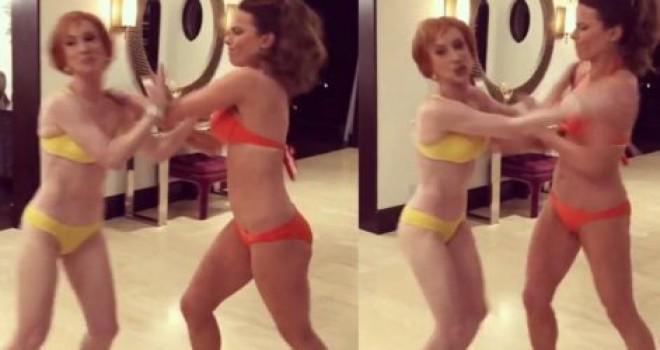 Kathy Griffin ve Kate Beckinsale'in videosu büyük ilgi gördü