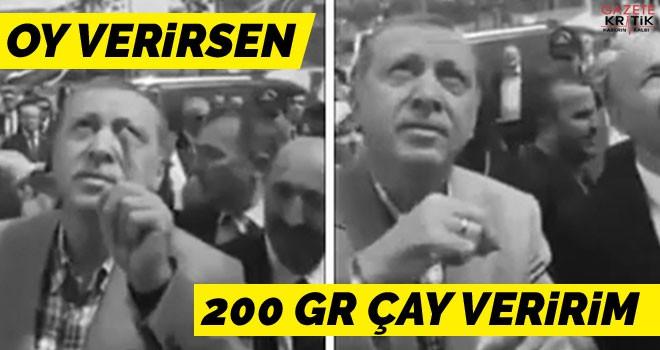 Erdoğan'ın İstanbullulara oy karşılığı vaadi: 200-250'şer gram çay!