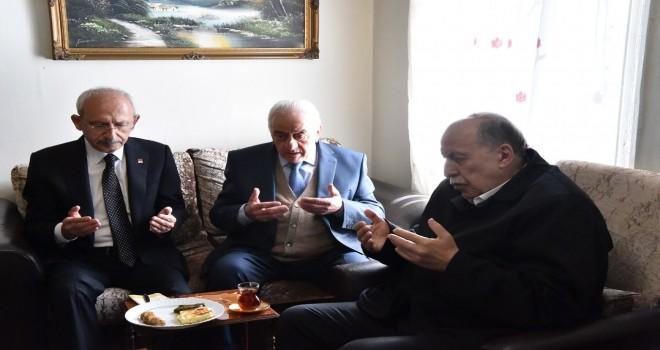 Kılıçdaroğlu ve Okuyan'dan şehit ailesine taziye ziyareti